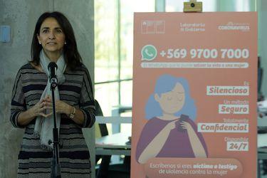 Ministra (S) de la Mujer, Carolina Cuevas. Foto: Agencia Uno.