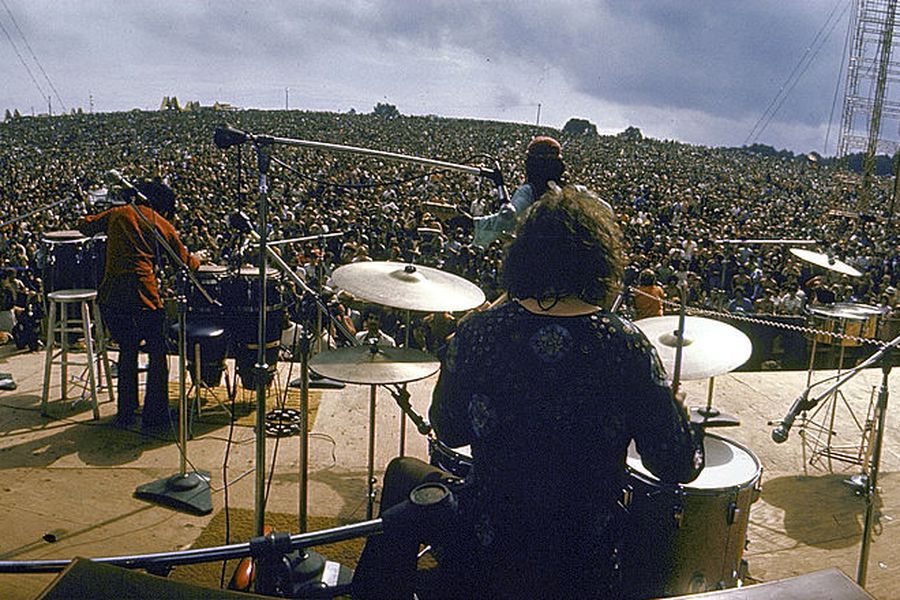 Santana Onstage At Woodstock
