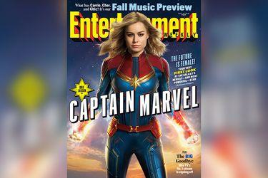 El primer vistazo de Brie Larson con el traje clásico de Capitana Marvel