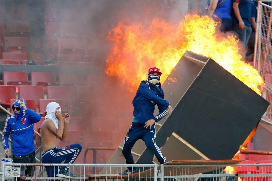 Incidentes U de Chile vs Internacional