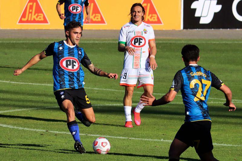 Nicolás Ramírez, durante el partido entre Huachipato y Cobresal. FOTO: Agencia Uno.