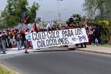 La Garra Blanca vuelve a protestar fuera del Monumental