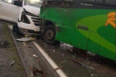 Cinco personas fallecen en colisión múltiple en la ruta que une Chillán y Yungay