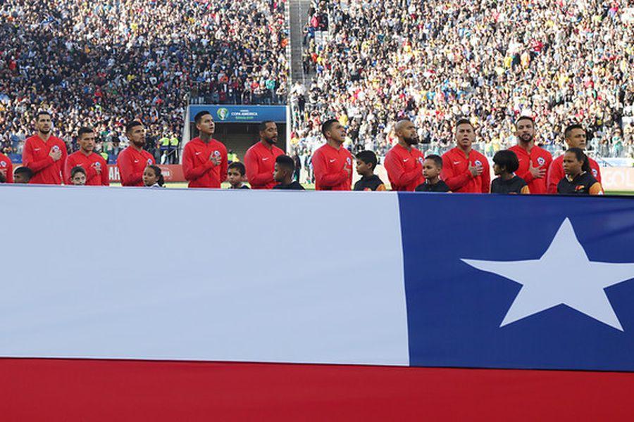 La Roja durante un partido de la Copa América jugada en Brasil, en 2019.
