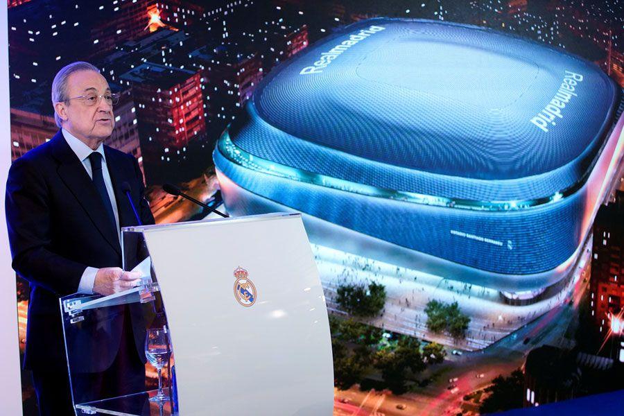 Florentino Pérez es ahora presidente del Real Madrid y, al mismo tiempo, presidente de la nueva Superliga Europea, que amenaza a la UEFA Champions League.