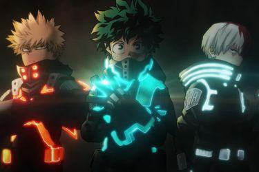 Un vistazo a los trajes que utilizaran Deku, Bakugo y Todoroki en la nueva película de My Hero Academia