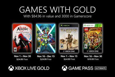 Dan a conocer los juegos gratis con Gold para Xbox One en noviembre
