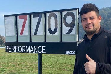 Gabriel Kehr marca un nuevo récord nacional en el lanzamiento de martillo