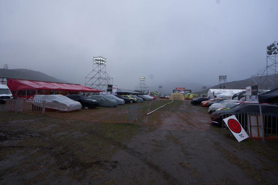 El Rally de Casablanca debió suspenderse por mal tiempo.