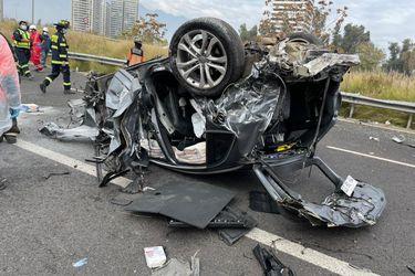 Choque de vehículos en Costanera Norte: Dos lesionados y tránsito cortado en parte de la ruta
