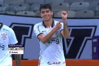 Araos anota su primer gol en Corinthians pero no puede con Sampaoli