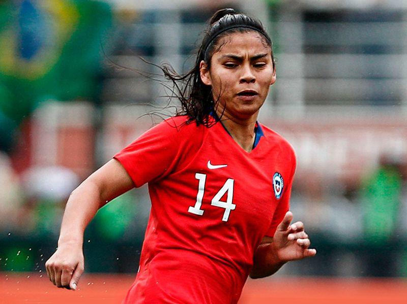 Daniela Pardo, en un partido de la Selección.