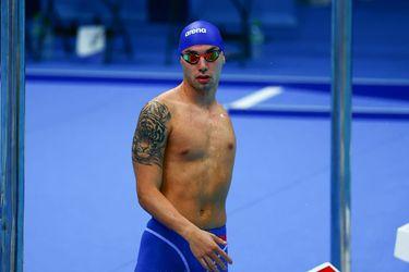 Vicente Almonacid, en la piscina de Tokio