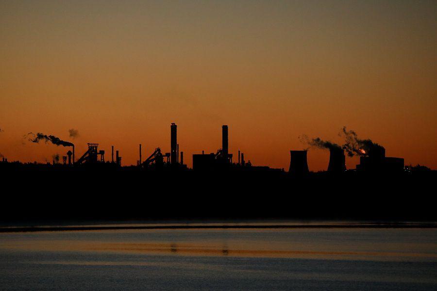General view of Katowice Steelworks in Dabrowa Gornicza