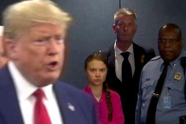 Por la boca muere el pez: Greta Thunberg se despide de Donald Trump usando sus mismas palabras
