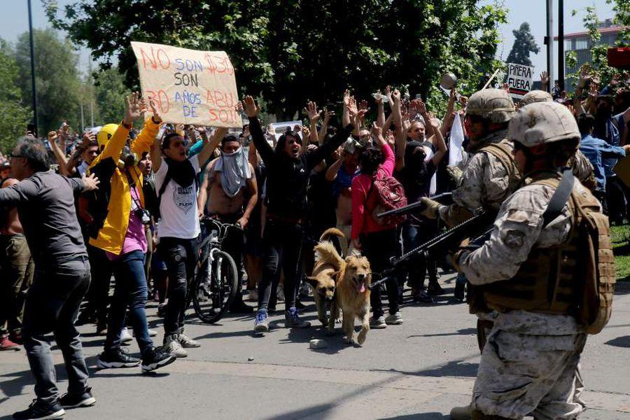 Protestas Plaza Italia