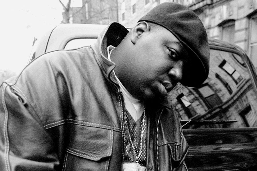Rapper Notorious B.I.G., aka Biggie Smalls, aka Chris Wallac