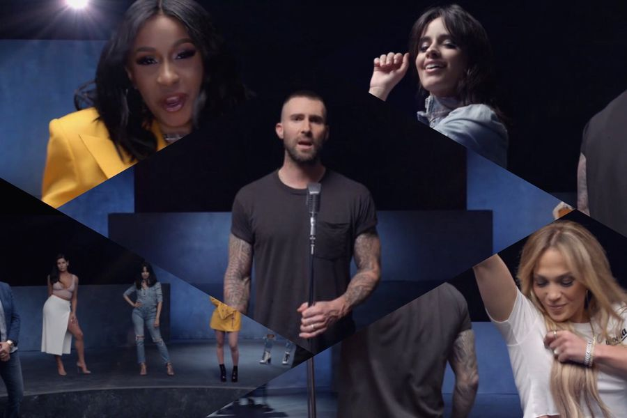 Maroon-5-ft-Cardi-B-Girls-Like-You-video-Jennifer-Lopez-Camila-Cabello