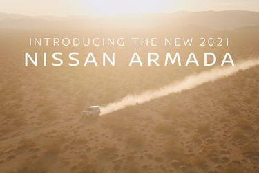 Nissan ahora muestra un adelanto del nuevo mastodonte familiar Armada