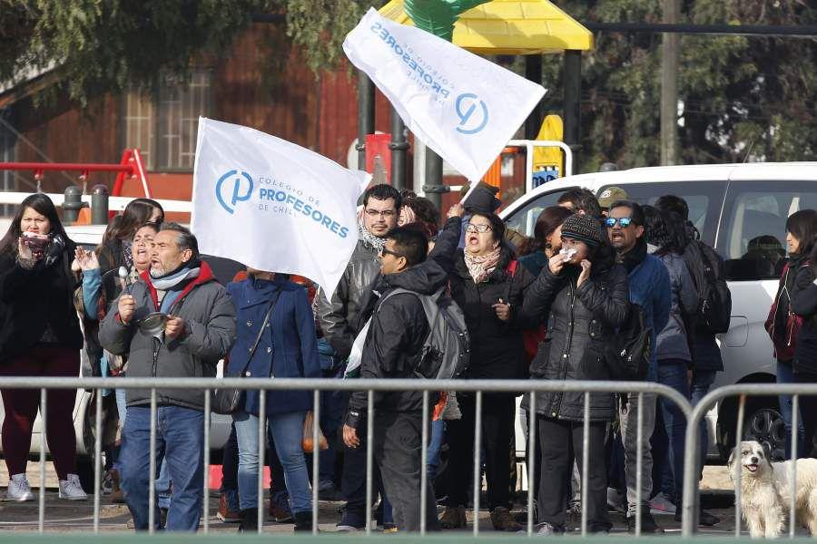 Manifestación profesores en Maipú.