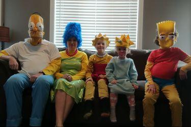Una familia recreó la intro de Los Simpson en cuarentena