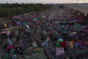 Dron muestra la crisis migratoria que se vive en la frontera de EE.UU. y México