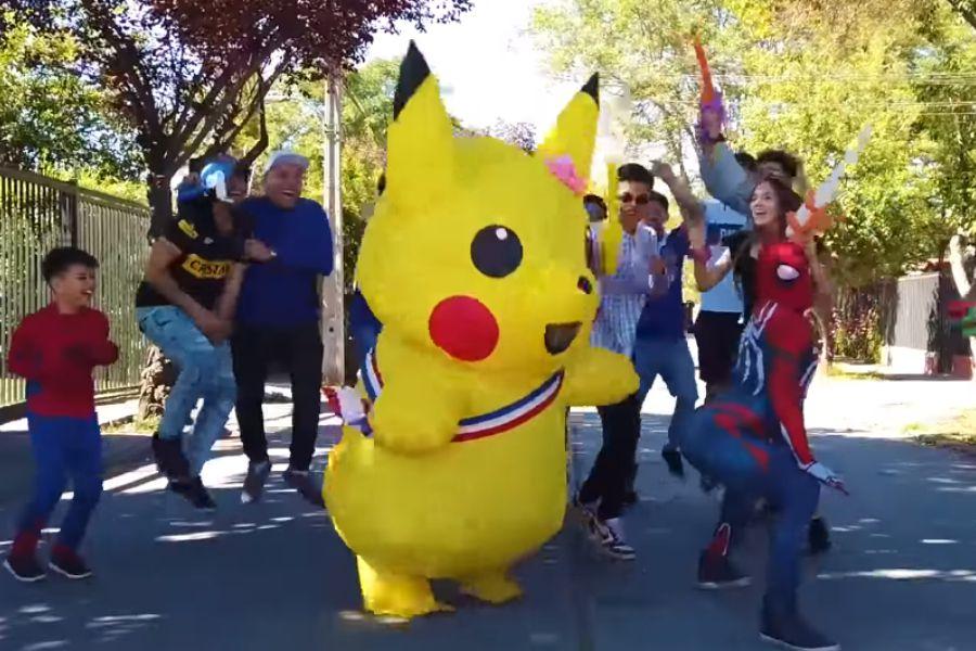 pikachu spiderman