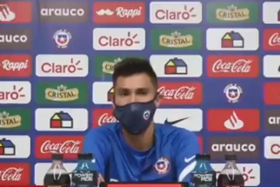 Pablo Galdames en la conferencia previa al debut de Martin Lasarte por la selección chilena ante Bolivia.