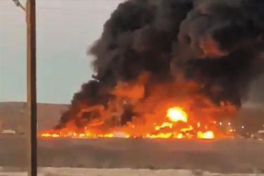 Incendio afectó a planta de procesamiento de yodo de empresa SQM en Pozo Almonte