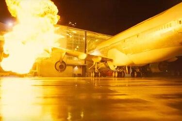 Christopher Nolan chocó un avión 747 para una escena de Tenet