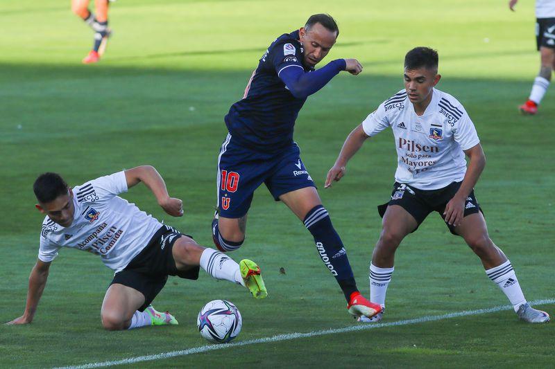 Marcelo Cañete fue el autor del descuento de U. de Chile en la derrota ante Colo Colo.