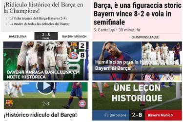 """Europa no tiene piedad con el Barcelona: """"Sin fútbol, sin espíritu y sin dignidad"""""""