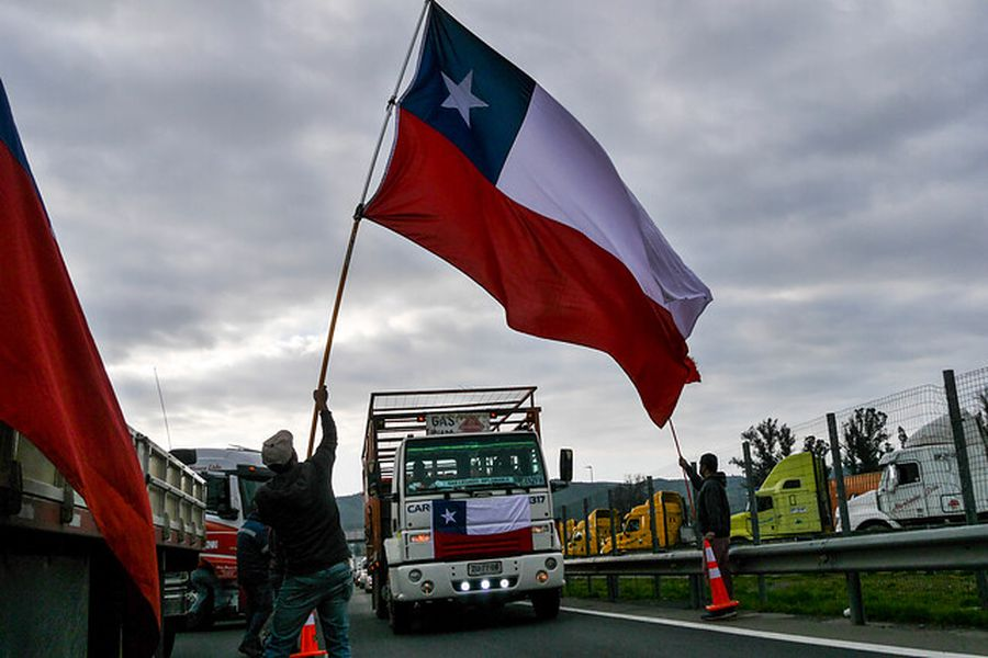 Paro de camioneros en la Ruta 68. Foto: AgenciaUno