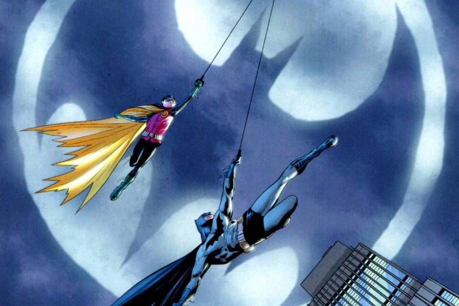 bati señal comic batman robin