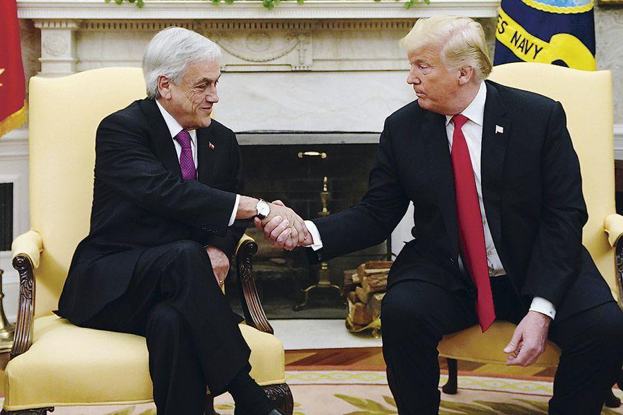 Pinera y Donald Trump