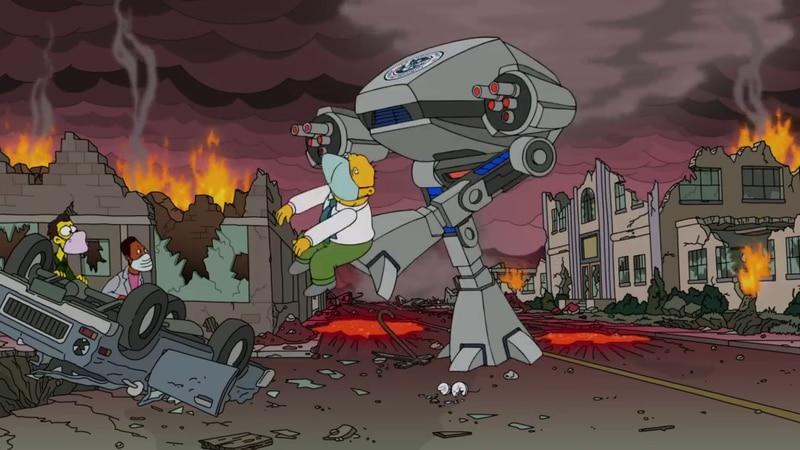 Los Simpson realizaron un último llamado: Homero no votó y llegaron los cuatro jinetes del Apocalipsis - La Tercera