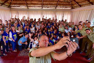 Bruno Villalobos se reunió con voluntarios de la seguridad del Papa Francisco