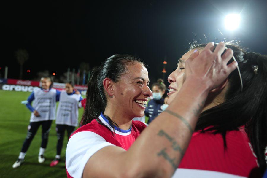 Francisca Lara, en la celebración de la clasificación