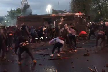 Los violentos hechos que marcaron manifestaciones de este lunes