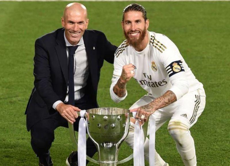 Sergio Ramos se despidió de Zidane tras el anuncio de su salida como técnico del Real Madrid.