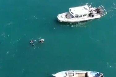 Armada incauta siete explosivos artesanales desde el fondo del mar