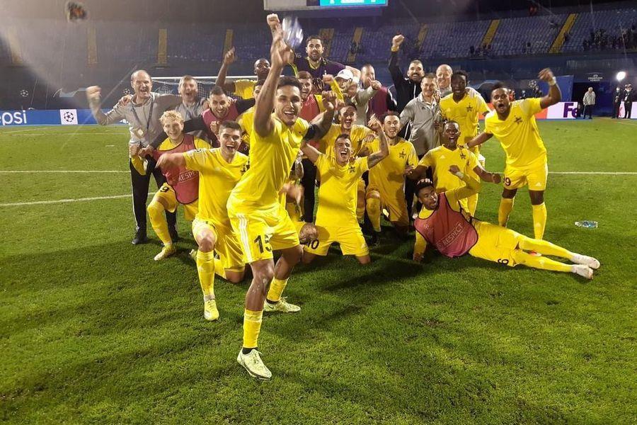 El Sheriff Tiraspol celebra su clasificación en la Champions.