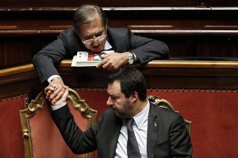 Confidence vote on the budget law in Rome