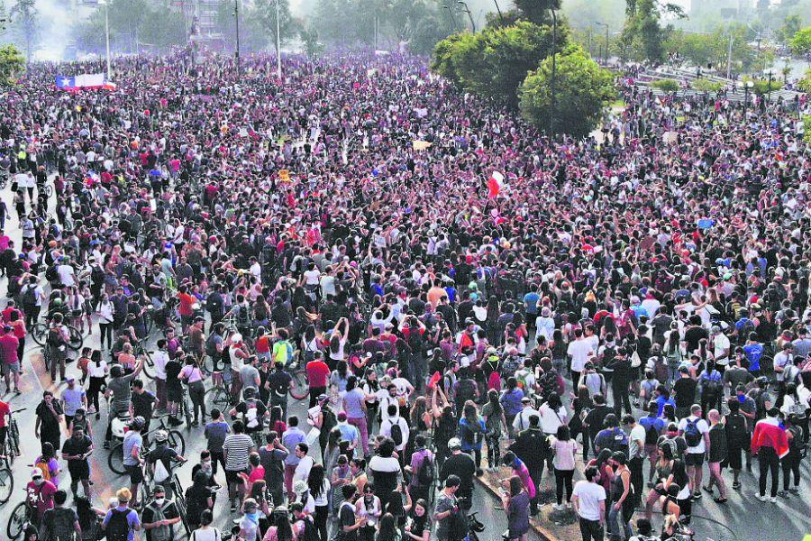 Manifestaciones en Santiago