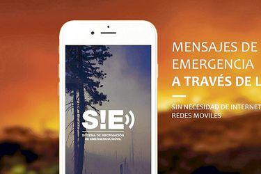 Afiche promocional de SIE, la aplicación creada por Barbarita Lara.
