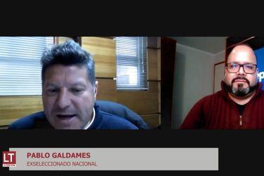 Pablo Galdames, durante la emisión de El diván del Kily, el programa de conversación de El Deportivo.