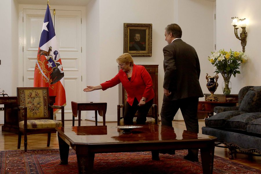 Bachelet con Guillier
