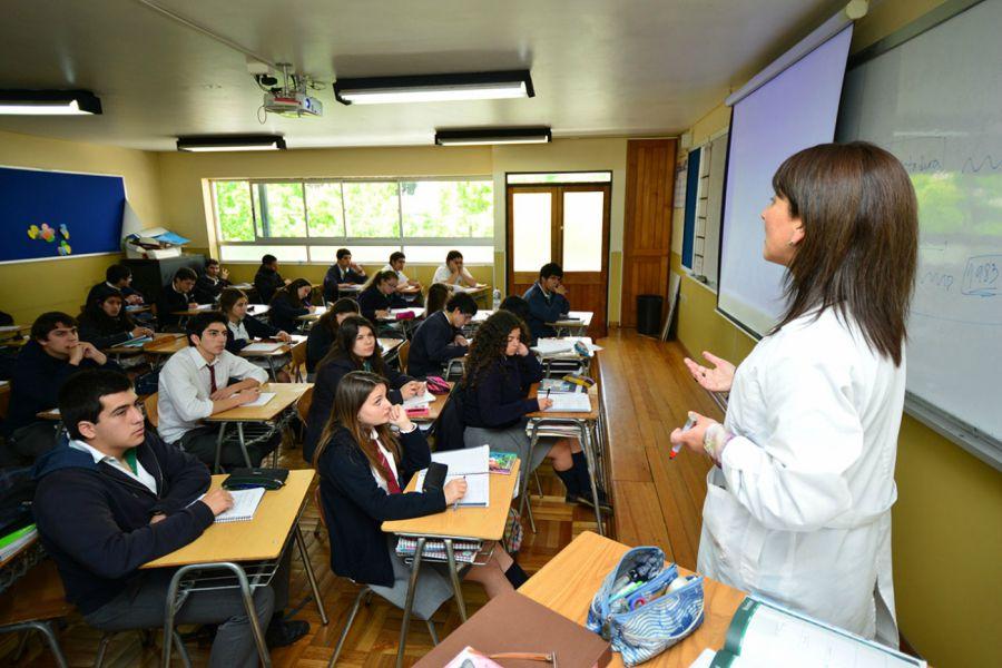 Alumnos en sala de clases. Foto: Instituto O'Higgins.