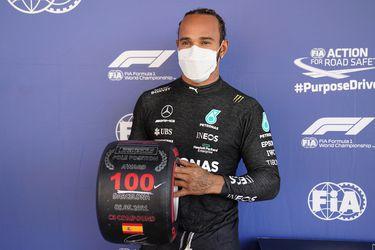 Hamilton es centenario: consigue la pole 100 de su carrera en España