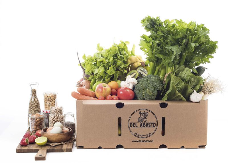 Canasta fruta y verdura de Del Abasto